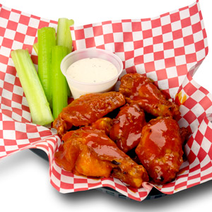 5 Piece Rocco's Famous Wings (Buffalo or BBQ)