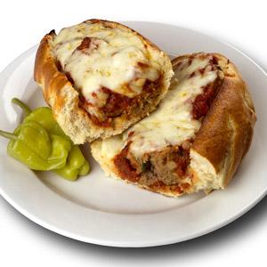 Meatball Parmigiana Sandwich
