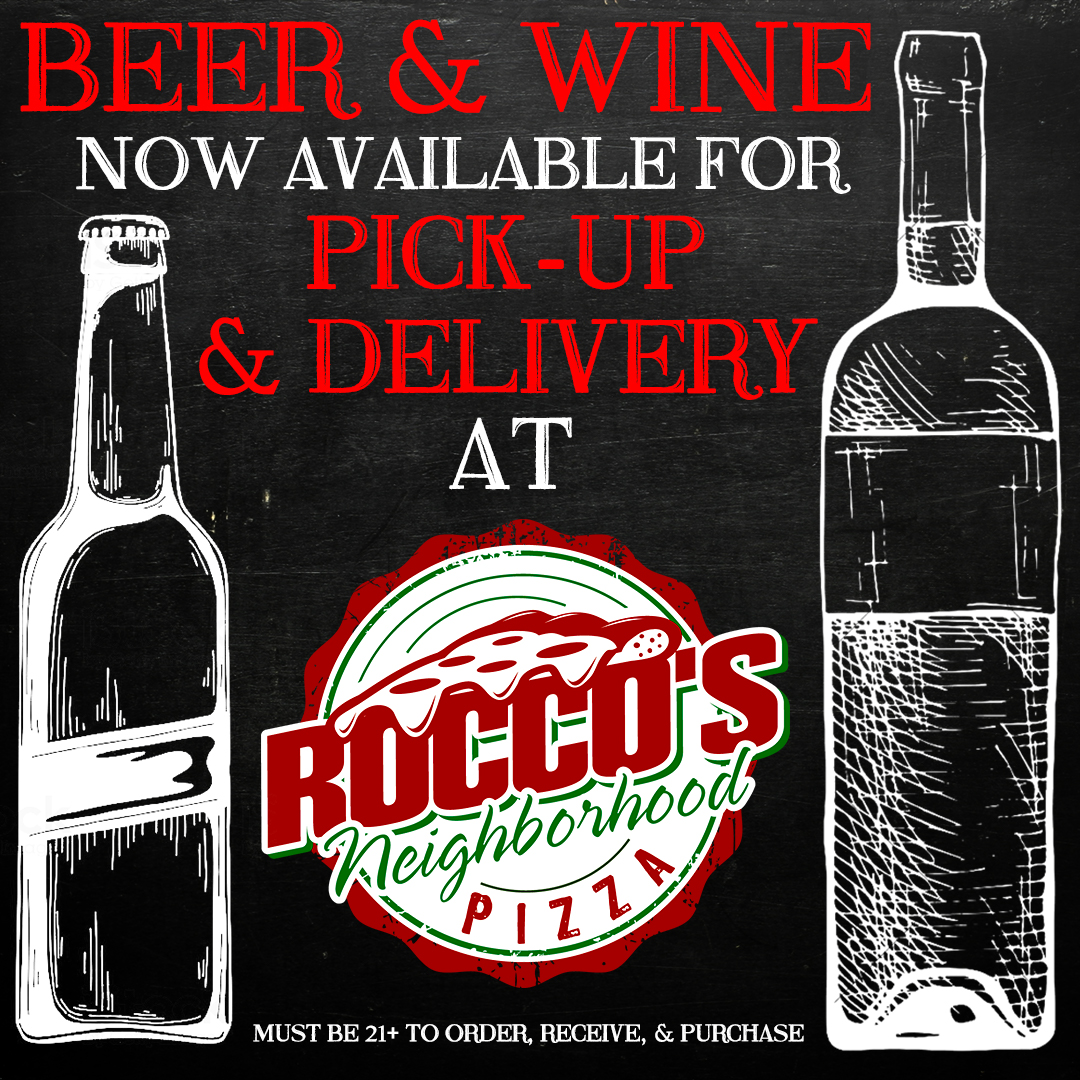 Beer and Wine now available for pick-up and delivery. Must be 21+ to order, receive, and purchase.